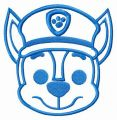 Paw Patrol Chase muzzle embroidery design