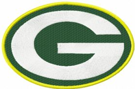 Ggreen Bay Packers logo machine embroidery design