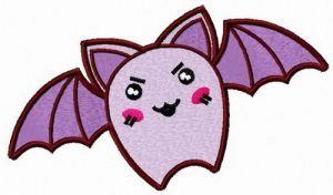 Angry purple bat
