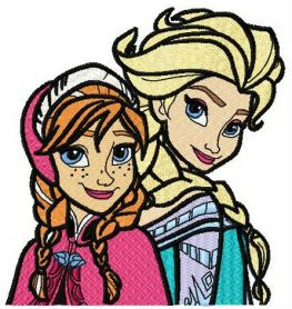 Frozen sisters 3 machine embroidery design