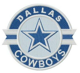Dallas Cowboys logo machine embroidery design