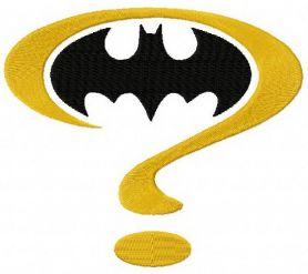 Batman question mark machine embroidery design