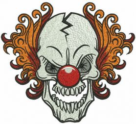 Killer Clown machine embroidery design