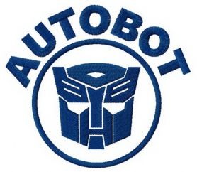 Autobot machine embroidery design