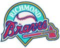 Richmond Braves logo embroidery design