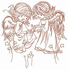 Stars for angels 2 machine embroidery design