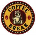 Coffee break 4 embroidery design