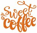 Sweet coffee embroidery design