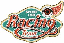 Racing Team Sport car label