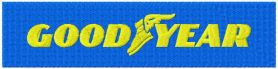 Goodyear logo machine embroidery design