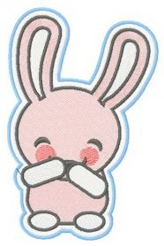 Bunny laughs 3 machine embroidery design