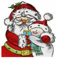 Santa and snowman 2 embroidery design