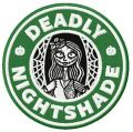 Deadly nightshade embroidery design