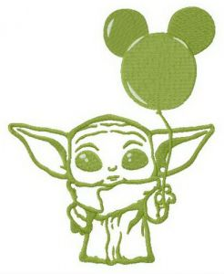 Yoda with balloon