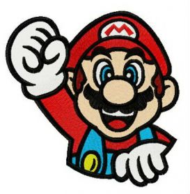 Bravo Mario machine embroidery design