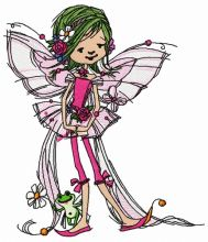 Young fairy with frog