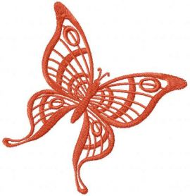 Brown butterfly free embroidery design