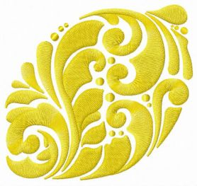 Lemon machine embroidery design