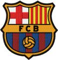 FC Barcelona logo embroidery design
