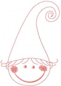 Little dwarf free embroidery design