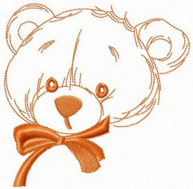 Teddy bear from childhood machine embroidery design