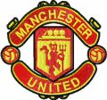 Manchester United Football Club logo embroidery design