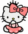 Hello Kitty Little Princess embroidery design