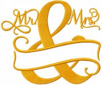 Mr And Mrs Split Monogram