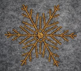 Snowflake free embroidery design 2