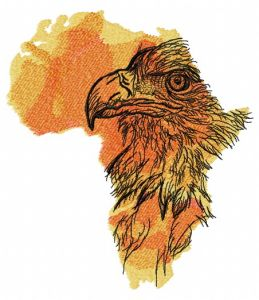 Africa crowned eagle