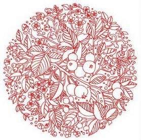 Fruit decoration 2 machine embroidery design