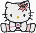 Hello Kitty u-shu embroidery design