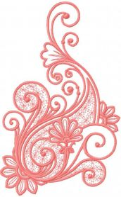 Pink pattern decoration free embroidery design