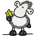 Sheep with Star embroidery design