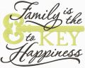 Family is the Key to happiness embroidery design