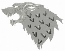 Stark mascot from Game of Thrones