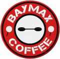Baymax coffee embroidery design