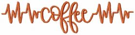 Coffee pulse free embroidery design