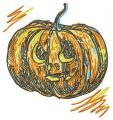 Scary pumpkin 2 embroidery design