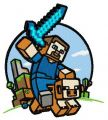 Minecraft warrior embroidery design