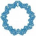 Blue frame embroidery design