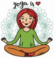 Yoga is heart embroidery design