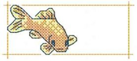 Gold fish cross stitch free embroidery design