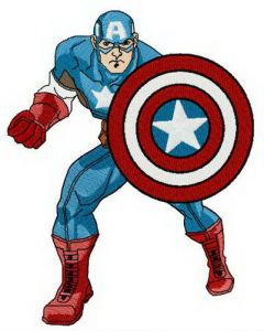 Brave and strong Captain America