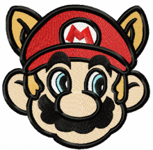 Super Mario raccoon face