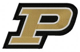 Purdue Boilermakers logo 2 machine embroidery design