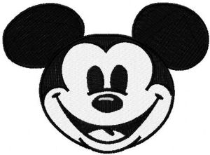 Mickey Mouse face applique