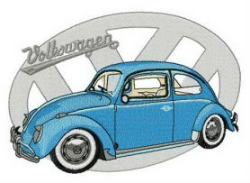Volkswagen Type 1 machine embroidery design
