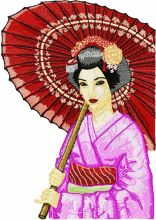 Geisha with Umbrella 3