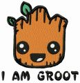 I'm Groot happy embroidery design